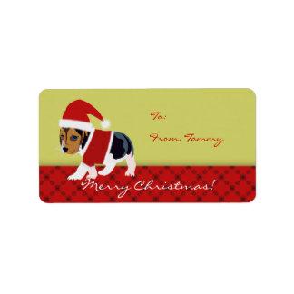 El pegatina del regalo de Navidad de la etiqueta m Etiqueta De Dirección
