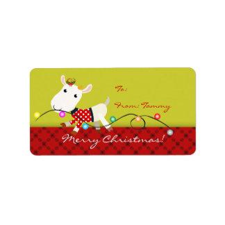 El pegatina del regalo de Navidad de la etiqueta m Etiquetas De Dirección