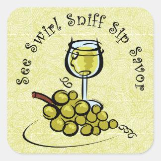 El pegatina del s del vino blanco 5