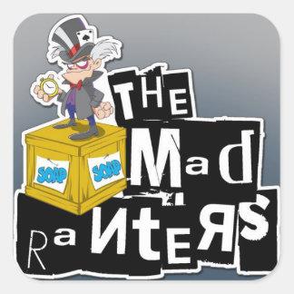 El pegatina enojado del logotipo de los Ranters