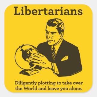 El pegatina libertario del diagrama