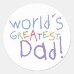 El pegatina más grande del papá de los niños
