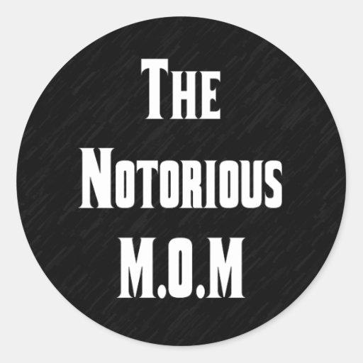 El pegatina notorio de M.O.M