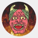 El pegatina principal del diablo japonés