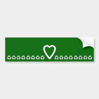 El pegatina recicla amor del corazón etiqueta de parachoque