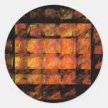 El pegatina redondo del arte abstracto de la pared
