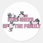El pegatina rosado de las ovejas