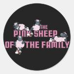 El pegatina rosado del negro de las ovejas