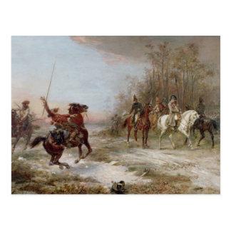 El peligro de Napoleon en el Brienne-le-Castillo Tarjeta Postal