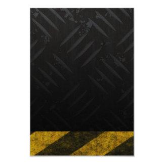 """El peligro del Grunge raya la placa del diamante Invitación 3.5"""" X 5"""""""