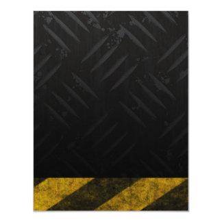 """El peligro del Grunge raya la placa del diamante Invitación 4.25"""" X 5.5"""""""