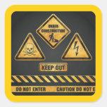 El peligro firma (7) garcya colcomanias cuadradases