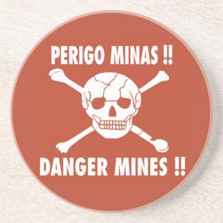 El peligro mina la muestra, Angola Posavasos Personalizados