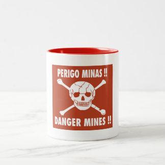 El peligro mina la muestra, Angola Taza De Dos Tonos