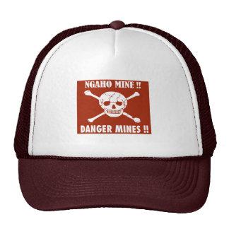 El peligro mina la muestra, Burundi Gorros Bordados