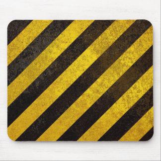 El peligro negro y amarillo pela Mousepad Alfombrillas De Ratón