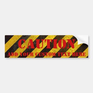 El peligro raya a la pegatina para el parachoques  pegatina para auto