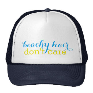 El pelo con playas no cuida el gorra del camionero