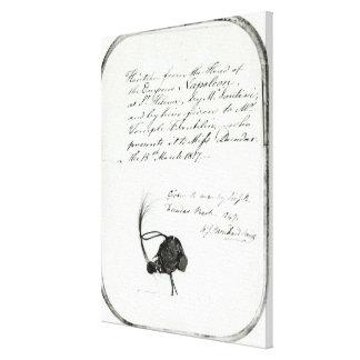 El pelo cortó del jefe del emperador Napoleon Lienzo Envuelto Para Galerías