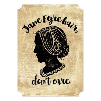 """El pelo de Jane Eyre no cuida Invitación 5"""" X 7"""""""