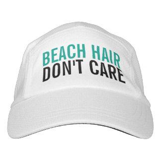 El pelo de la playa no cuida a mujeres divertidas gorra de alto rendimiento