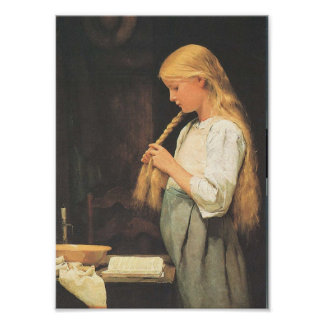 El pelo de los chicas que trenza 1887 impresiones