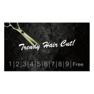 El pelo de moda corta la tarjeta de sacador de la tarjetas personales