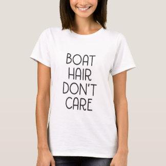 El pelo del barco no cuida la camiseta adulta