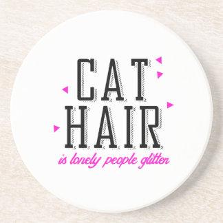 El pelo del gato es brillo solo de la gente - posavasos para bebidas
