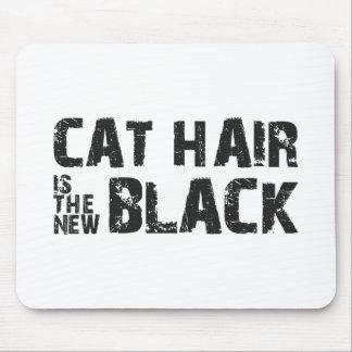 El pelo del gato es el nuevo negro alfombrillas de ratón