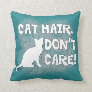 ¡El pelo del gato no cuida Almohada