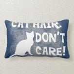 ¡El pelo del gato, no cuida!  Almohada de lujo