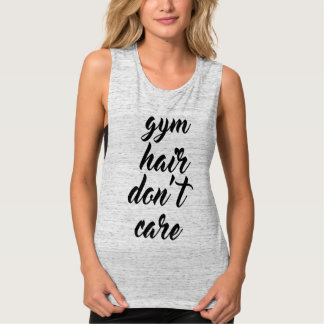 El pelo del gimnasio no cuida las camisetas sin