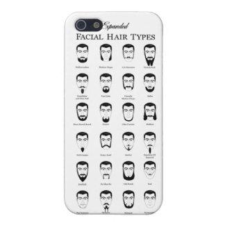 El pelo facial mecanografía la caja del iPhone iPhone 5 Funda