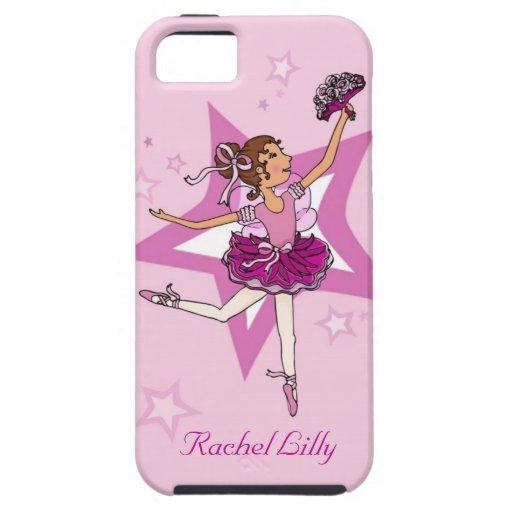 El pelo oscuro de la bailarina de los chicas nombr iPhone 5 Case-Mate cárcasas