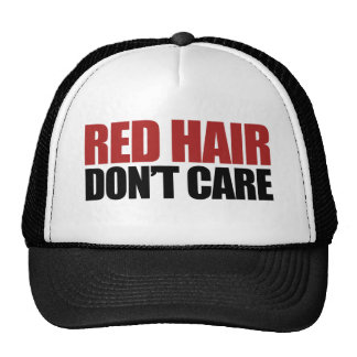 El pelo rojo no cuida gorro de camionero