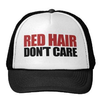 El pelo rojo no cuida gorros bordados