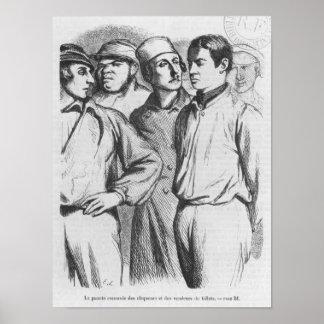 El pelotón arrogante de applauders empleados poster