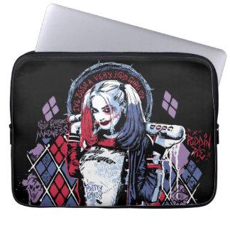 El pelotón del suicidio el | Harley Quinn entintó Fundas Computadoras