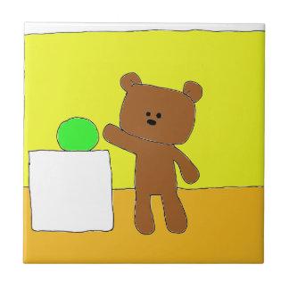El peluche de P quiere una bola Azulejo Cuadrado Pequeño