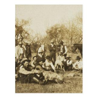 El peluche empaqueta un coyote, 1905 tarjeta postal