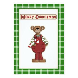 El peluche lindo del navidad refiere la invitación