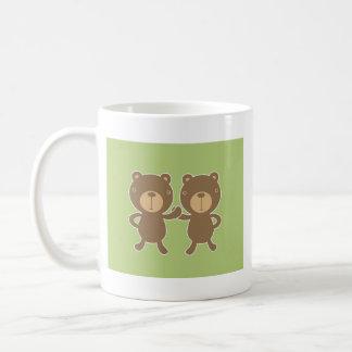 El peluche refiere verde en colores pastel llano taza de café
