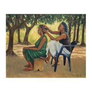 El peluquero 2001 cuadro de madera