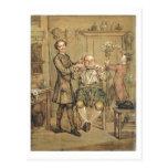 El peluquero, c.1760-69 (aceite en lona) postales