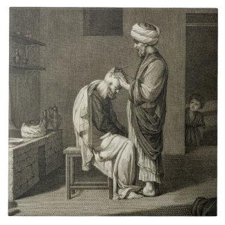 El peluquero, de artes del volumen II y de comerci Azulejo Cuadrado Grande