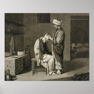 El peluquero, de artes del volumen II y de comerci Póster