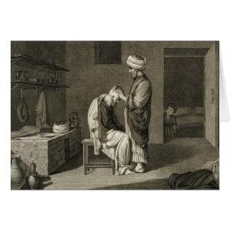 El peluquero, de artes del volumen II y de comerci Tarjeta De Felicitación