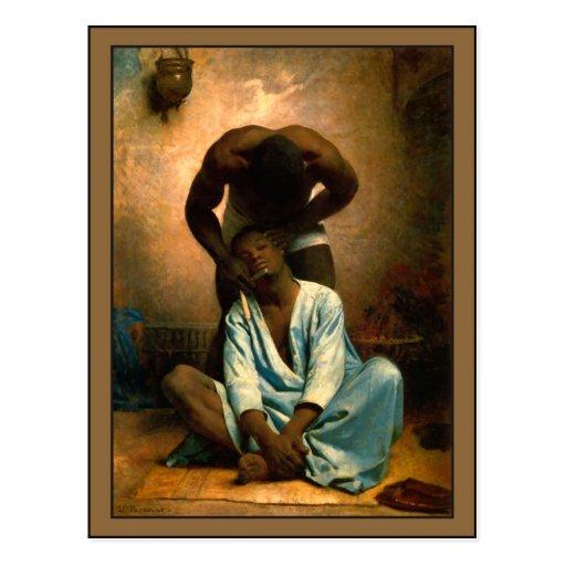 El peluquero de Suez por León Bonnat Tarjeta Postal