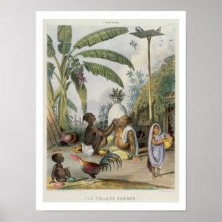 """El peluquero del pueblo, platea 6 de """"indios"""", eng póster"""